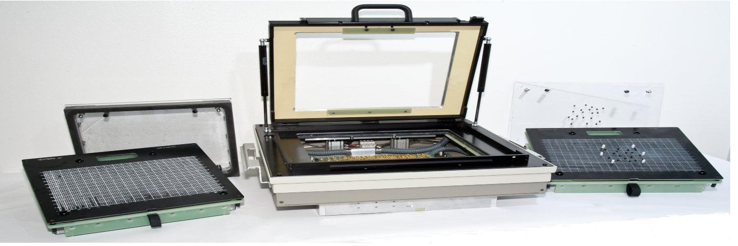 Cheaper 3070 ict test fixtures for Agilent or Keysight platform. Image is of the Docking station and the cassette fixtures